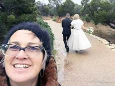 Spike Gillespie wedding selfie